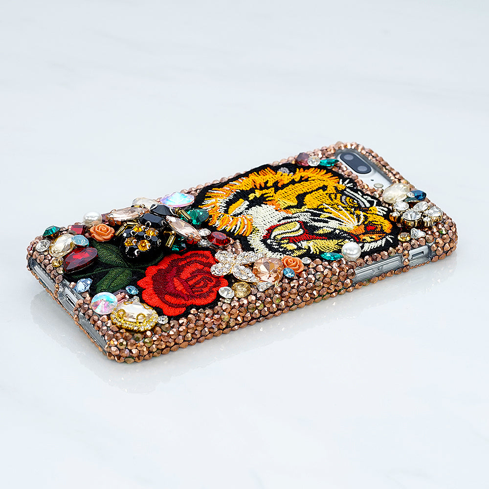 tiger and rose iphone x case