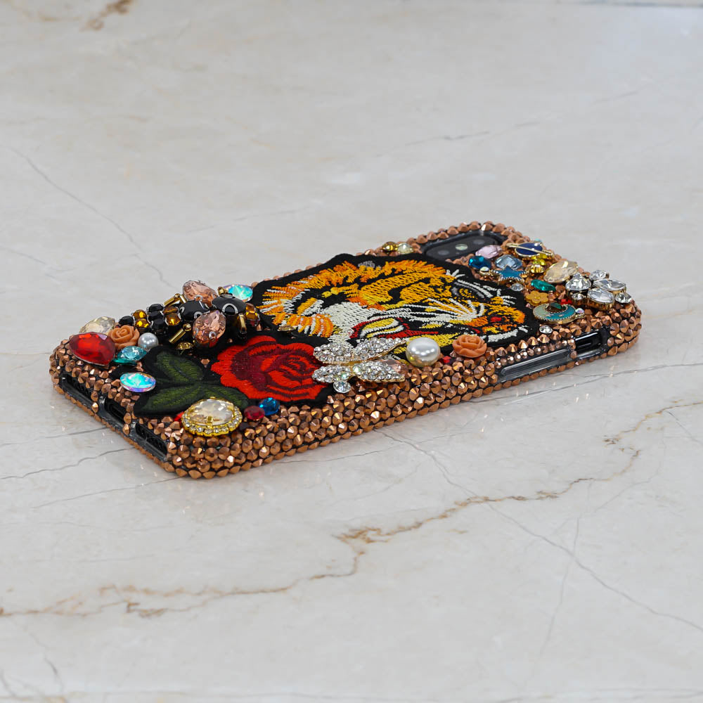 tiger rose iphone xs max case