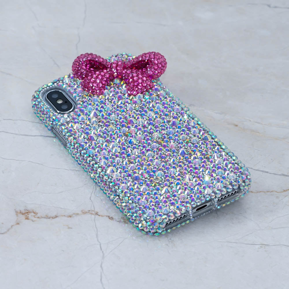 pink bow iphone xs max case