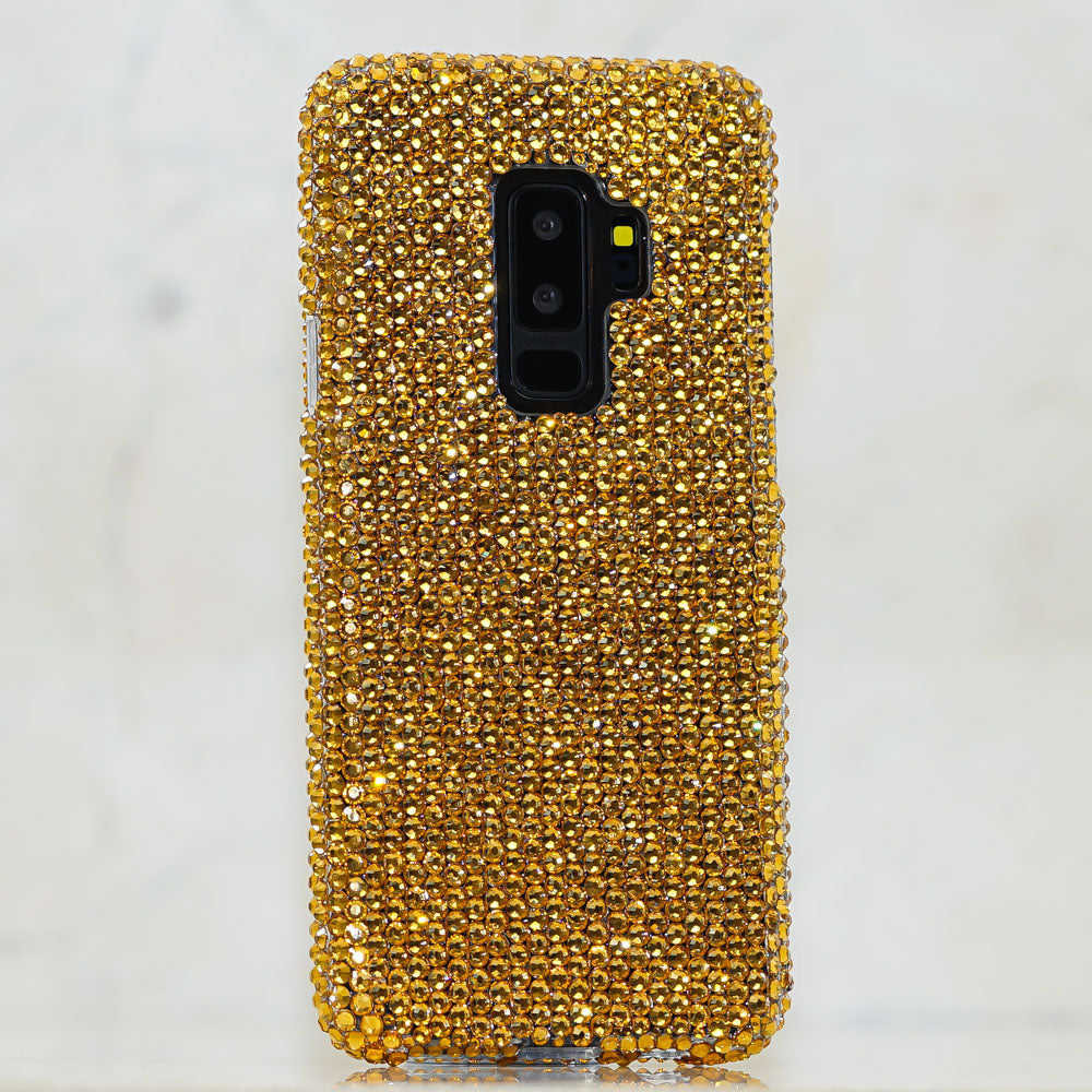 gold crystals Samsung Galaxy S9 case