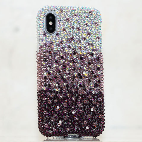AB crystals purple iphone Xs case