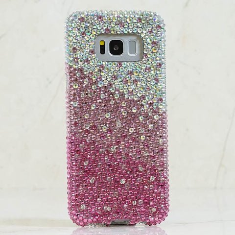 bling pink crystals samsung note 10 case