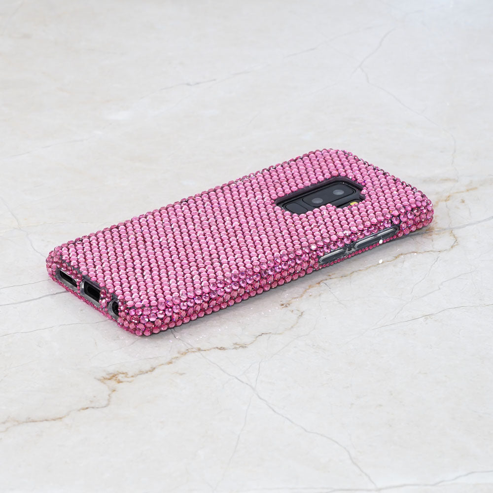 Pink crystals samsung galaxy s9 plus case