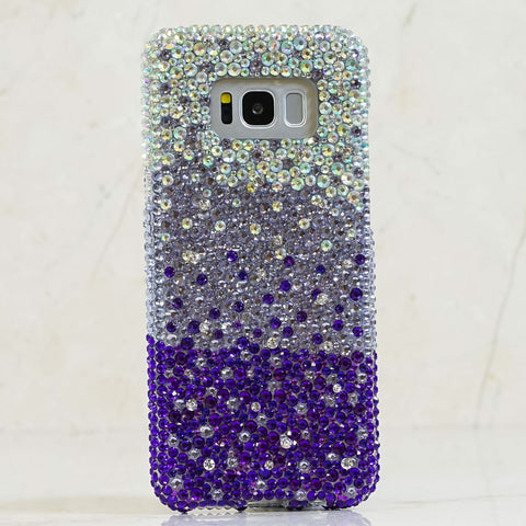 purple crystals samsung note 9 case