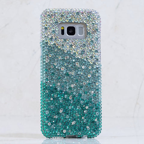 Turquoise crystals Samsung S8 Plus case