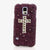 Dark Purple Cross Design case made for Samsung Note 4