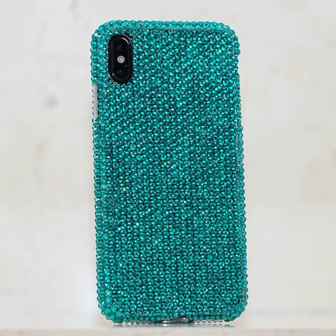 Turquoise Crystals iphone xs case