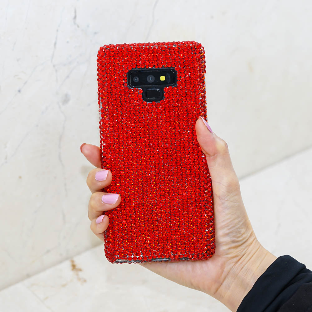 red crystals galaxy s10 plus case