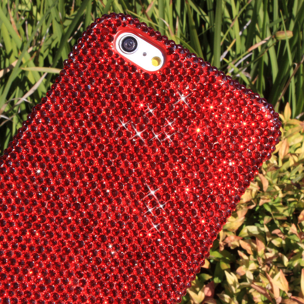 bling red crystals iphone 8 plus case