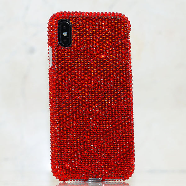 Red crystals iphone Xs case