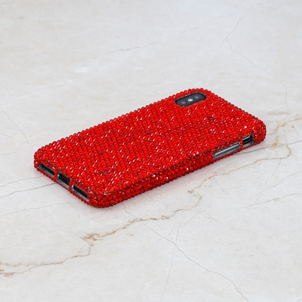 bling red crystals iphone Xs Max case
