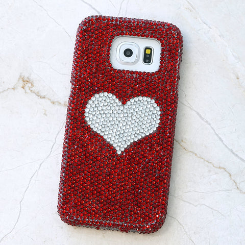 red crystals samsung s7 case