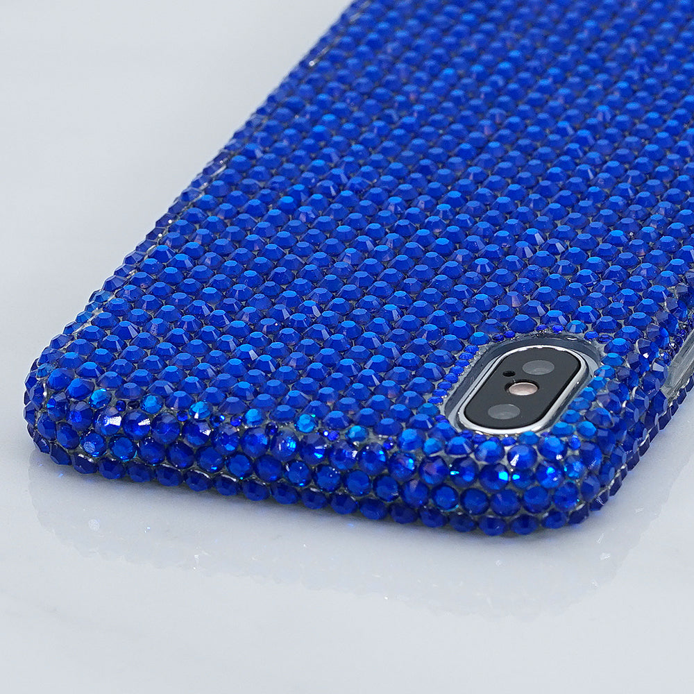 navy blue bling iphone x case