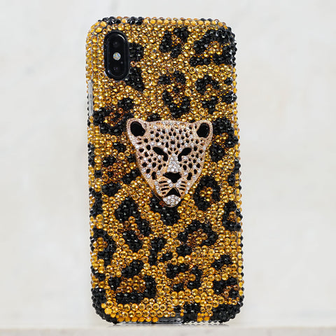 Leopard Crystals iphone Xs case