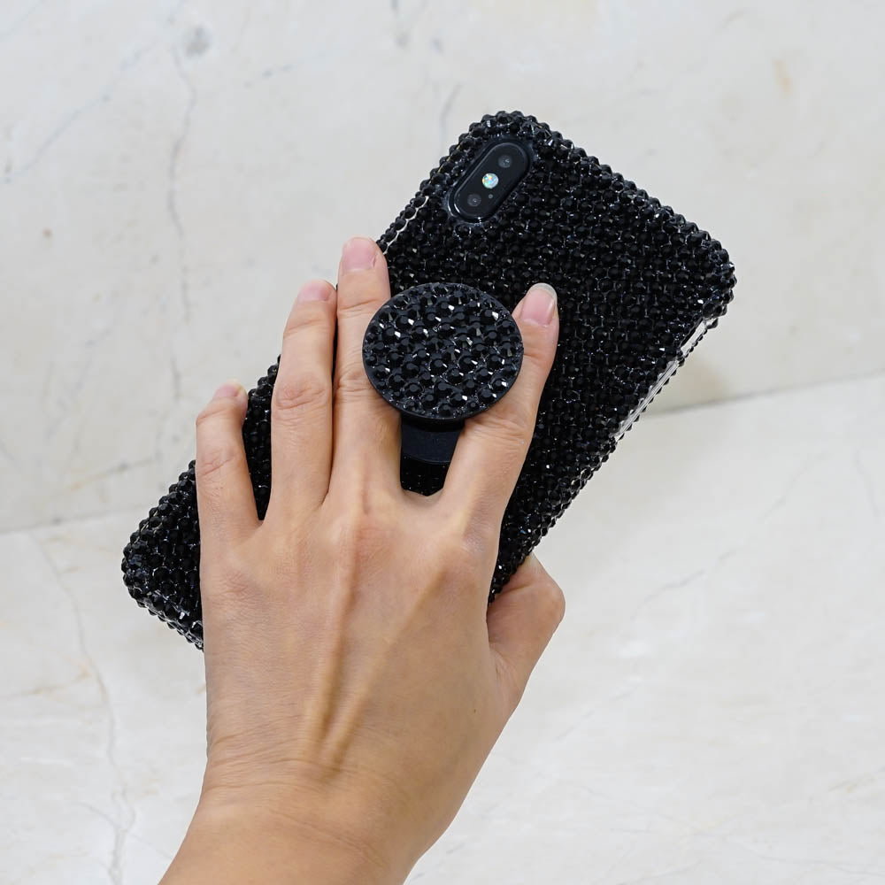huge selection of 01826 c0c1a Jet Black Crystals + PopSockets PopGrip (style PS100 )