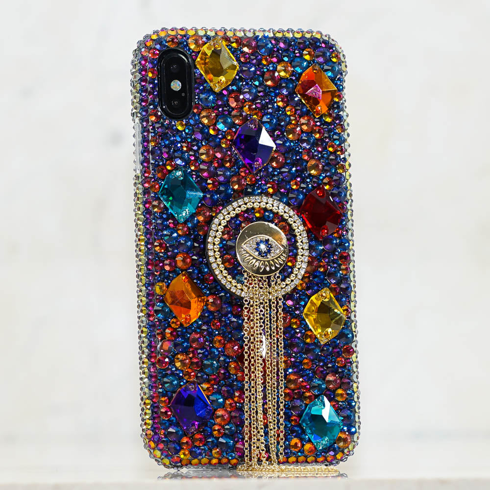 Evil Eye bling iphone xs max case