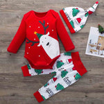 Baby Girl/Boy Christmas Onesie, Pants and Hat