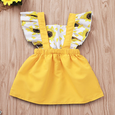 Baby Girl Ruffled Sunflower Dress
