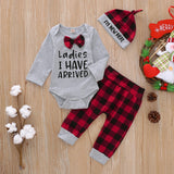 Baby Boy Onesie, pants, and hat Christmas set