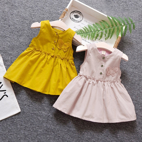 Baby Girl Sleeveless Butterfly Dress