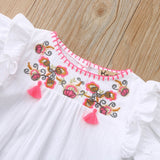Baby Girl Embroidered Floral Romper Jumpsuit