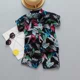 Boys Floral & Pattern Design Shirt and Shorts