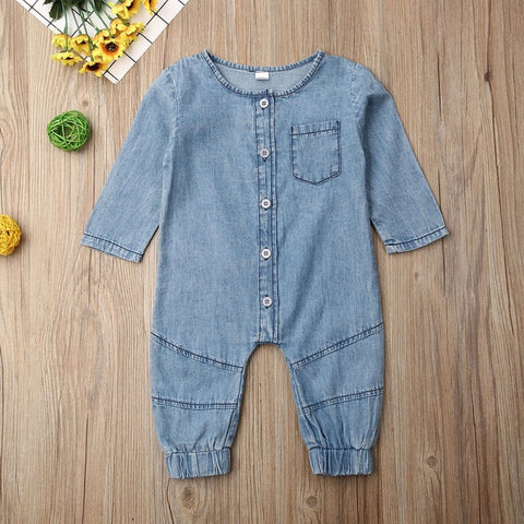 Baby Girl Long Sleeve Jumpsuit Romper