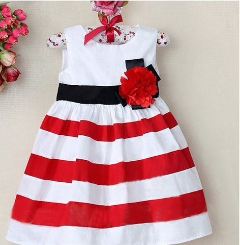Baby/Toddler Girl Sleeveless Striped Dress