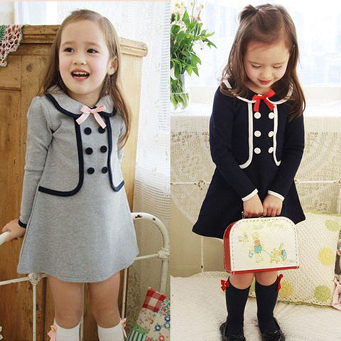 Long Sleeves Bowknot Dress