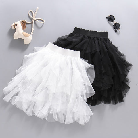 White/Black Tutu Lace Skirt