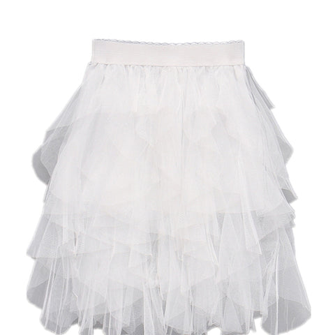 White Tutu Lace Skirt