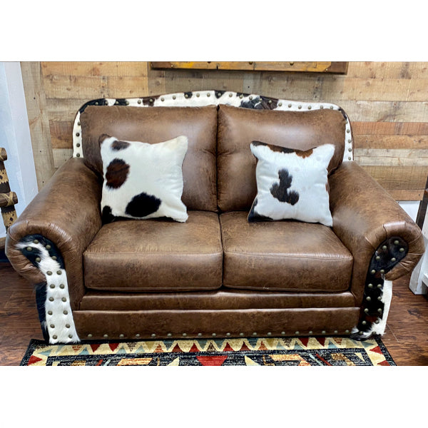 Cowhide Loveseat