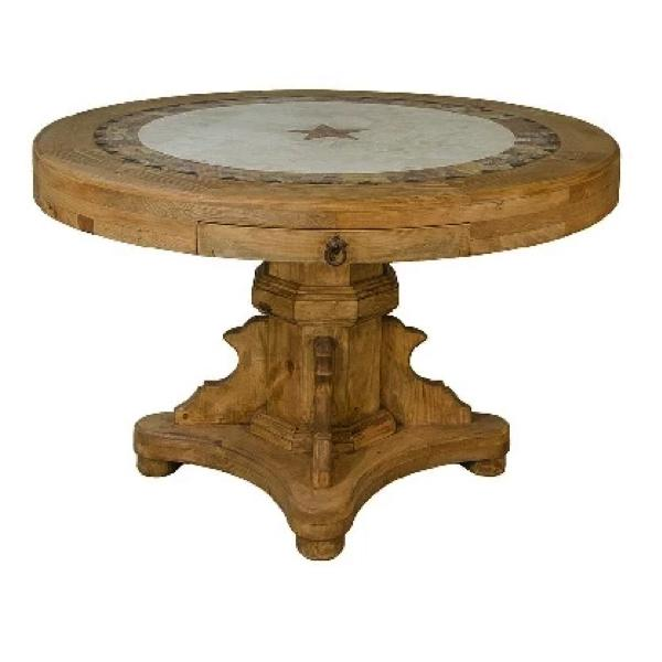 Travertine Round Table