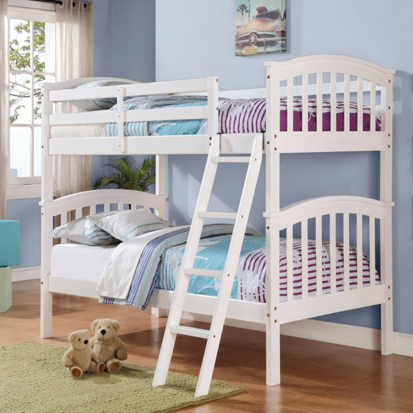 White Mission Twin/Twin Bunkbed