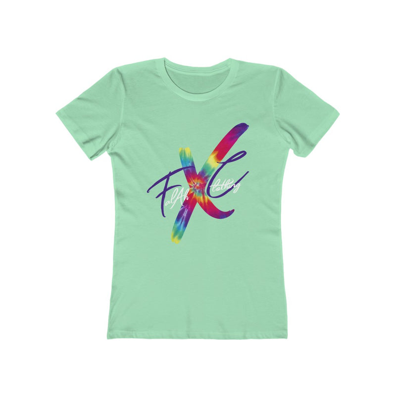 FXC Big Logo Tye Dye Women's The Boyfriend Tee