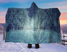 Load image into Gallery viewer, Winter Forest Hooded Blanket