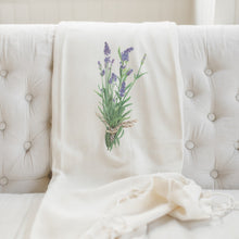 Load image into Gallery viewer, Lavender Watercolor Blanket