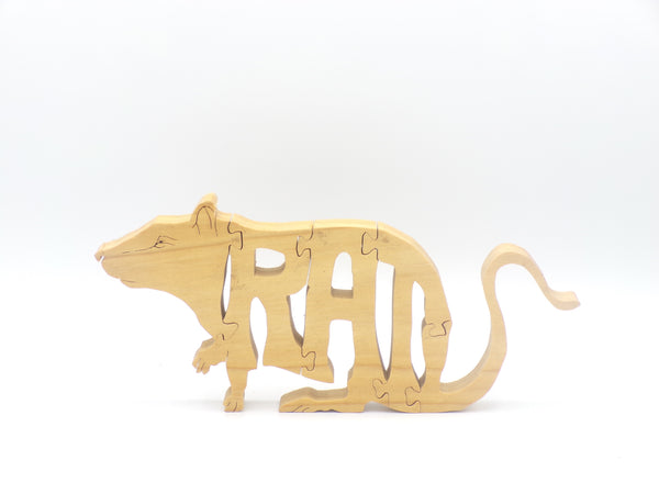 Wooden Rat Jigsaw Puzzle | Hand Cut Puzzle | Animal Puzzle | Rat Toys | Educational Puzzle | Kids Puzzle | Handmade Puzzle