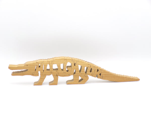 Wooden Alligator Jigsaw Puzzle | Hand Cut Puzzle | Animal Puzzle | Alligator Toys | Educational Puzzle | Kids Puzzle | Handmade Puzzle