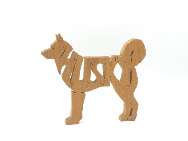 Wooden Husky Jigsaw Puzzle | Hand Cut Puzzle | Animal Puzzle | Husky Toys | Educational Puzzle | Kids Puzzle | Handmade Puzzle