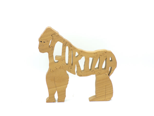 Wooden Gorilla Jigsaw Puzzle | Hand Cut Puzzle | Animal Puzzle | Gorilla Toys | Educational Puzzle | Kids Puzzle | Handmade Puzzle