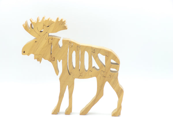Wooden Moose Jigsaw Puzzle | Hand Cut Puzzle | Animal Puzzle | Moose Toys | Educational Puzzle | Kids Puzzle | Handmade Puzzle