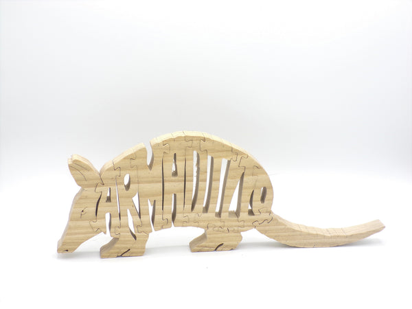 Wooden Armadillo Jigsaw Puzzle | Hand Cut Puzzle | Animal Puzzle | Armadillo Toys | Educational Puzzle | Kids Puzzle | Handmade Puzzle