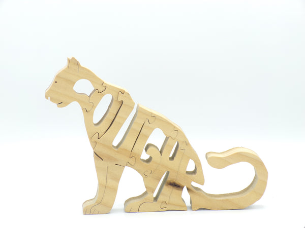 Wooden Cougar Jigsaw Puzzle | Hand Cut Puzzle | Animal Puzzle | Cougar Toys | Educational Puzzle | Kids Puzzle | Handmade Puzzle