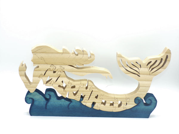 Wooden Mermaid Jigsaw Puzzle | Hand Cut Puzzle | Animal Puzzle | Mermaid Toys | Educational Puzzle | Kids Puzzle | Handmade Puzzle