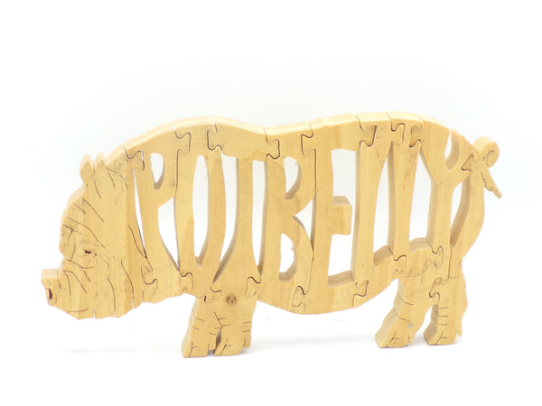 Wooden Potbelly Pig Jigsaw Puzzle | Hand Cut Puzzle | Animal Puzzle | Potbelly Pig Toys | Educational Puzzle | Kids Puzzle | Handmade Puzzle