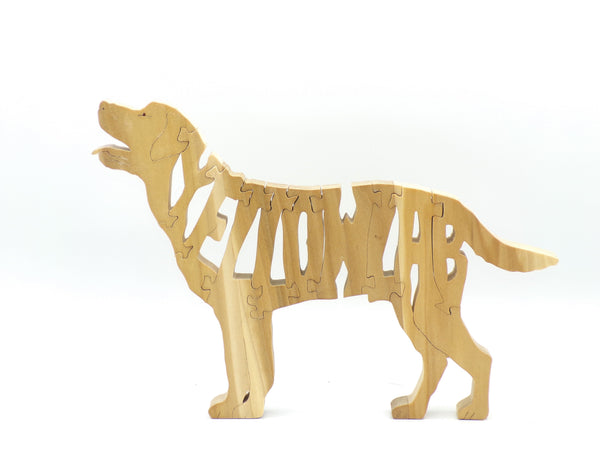 Wooden Yellow Lab Jigsaw Puzzle | Hand Cut Puzzle | Animal Puzzle | Yellow Lab Toys | Educational Puzzle | Kids Puzzle | Handmade Puzzle