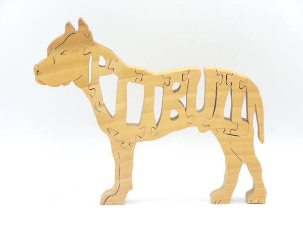 Wooden Pitbull Jigsaw Puzzle | Hand Cut Puzzle | Dog Puzzle | Pitbull Toys | Educational Puzzle | Kids Puzzle | Handmade Puzzle