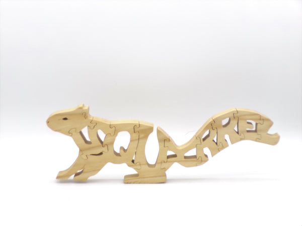 Wooden Squirrel Jigsaw Puzzle | Hand Cut Puzzle | Animal Puzzle | Squirrel Toys | Educational Puzzle | Kids Puzzle | Handmade Puzzle