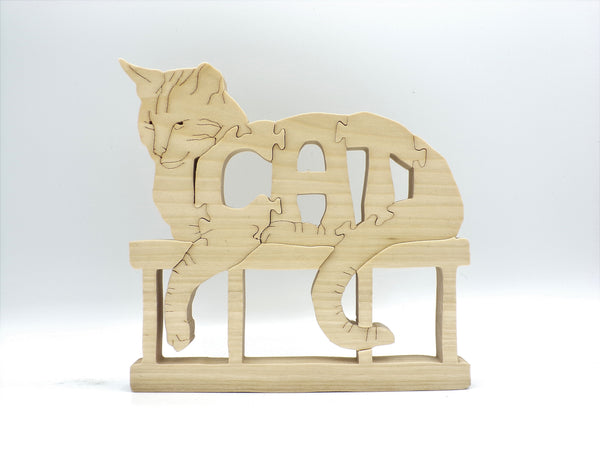 Wooden Cat Jigsaw Puzzle | Hand Cut Puzzle | Cat Puzzle | Cat Toys | Educational Puzzle | Kids Puzzle | Handmade Puzzle